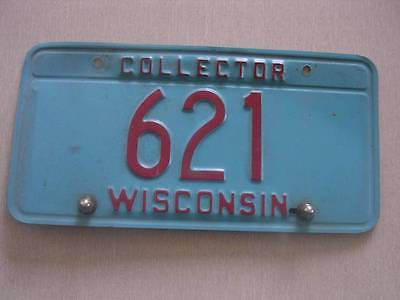Vintage Wisconisn Collector License Plate with Low Number #621