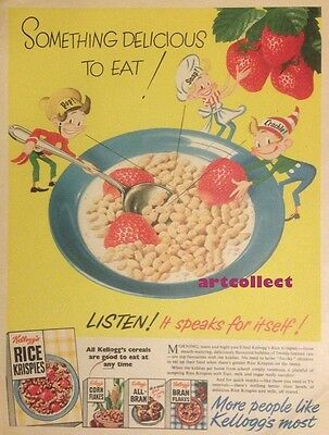 Original Vintage British Ad: Rice Krispies (1953)