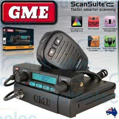 Gme 80 Channel Tx3520S Uhf Cb Radio 5 Watt Model Mobile Two Way New Remote Head
