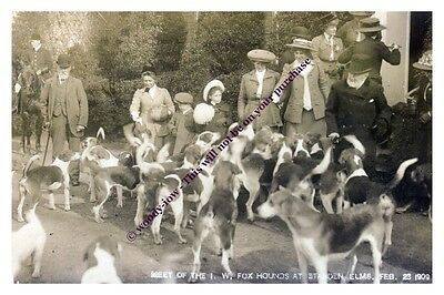 rp13398 - Isle of Wight Hunt at Standen Elms , Arreton 1909 - photo 6x4