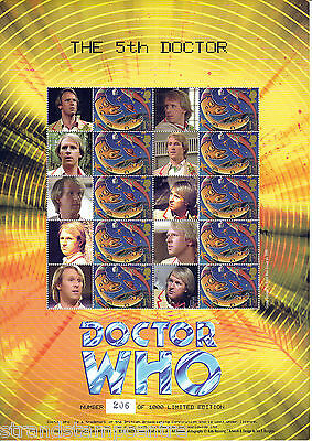 BC-061 - Doctor Who - The Fifth Doctor - Smilers Stamp Sheet