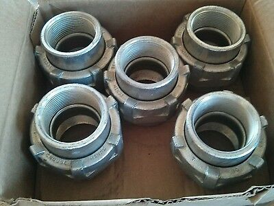 "Pallet Lot of 500 UNF505 Cooper Crouse Hinds 1 1/2""  Female Union UNF-505"