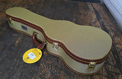 Kinsman Deluxe Tweed Tenor Ukulele Uke Hard Case With Key RRP £45.99