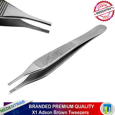 Adson Brown Tissue Dissecting Forceps Pliers Micro Suturing Medentra Brand New