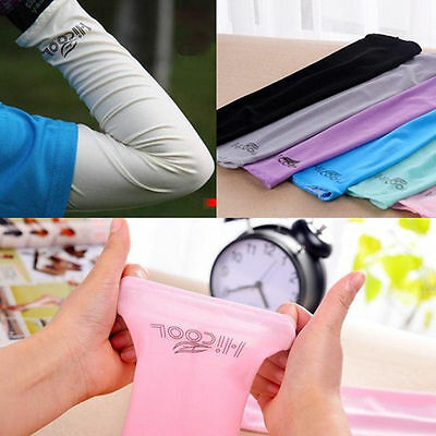 1pair Mens Cooling Athletic Sport Skins Arm Sleeves Sun Protective UV Cover Golf