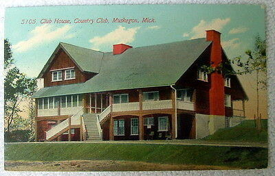 1913 POSTCARD THE OLD HOUSE COUNTRY CLUB MUSKEGON MICHIGAN #dd5