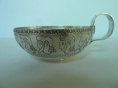 "Mesopotamian Antique Motif Cup, Sterling, ""dobson Piccadillly""  Chester 1906"