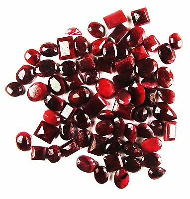 500 Ct. Pigeon Blood Red Wholesale Lot of Mix Shape Natural Ruby Gemstone
