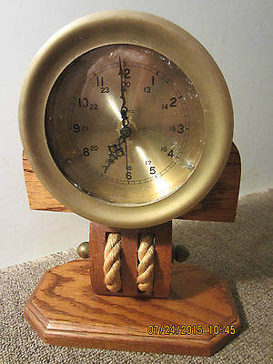 Maritime, Solid Brass, Ship's Table Top Clock