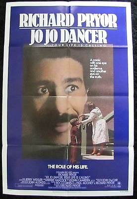 JO JO DANCER, Your Life is Calling RICHARD PRYOR COMEDY 1986 1sh MOVIE POSTER