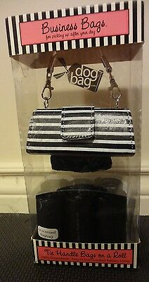 Business Bags Purse Style Dog Waste Bag Carrier/Dispenser + 6 Replacement Rolls