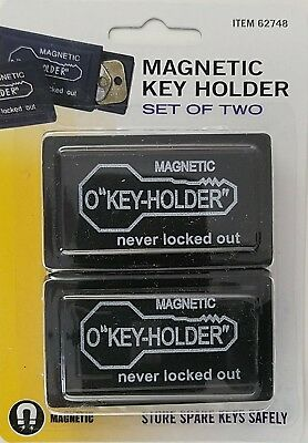 MAGNETIC SPARE KEY HOLDERS FOR HOUSE & CABINET KEYS 2 Holders/Pk