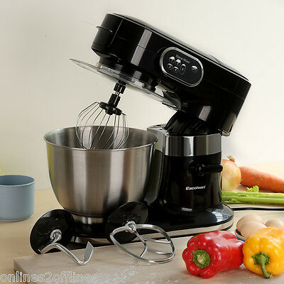 1000W 5.5L Electric Food Stand Mixer Kitchen Machine Blender + Beater/Hook/Whisk