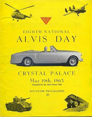 Alvis Day original Programme 8th National event at Crystal Palace May 19th 1963