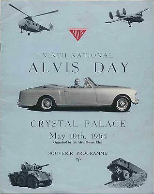 Alvis Day original Programme 9th National event at Crystal Palace May 10th 1964