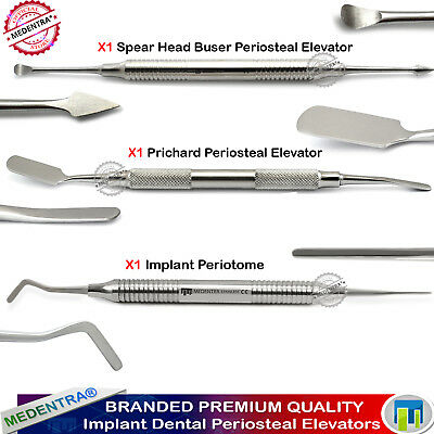 Set of Implant Pritchard Periosteal Buser Elevator Periotome Dental Implant Lab