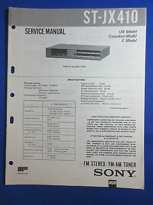 Sony St-Jx410 Tuner Service  Manual Factory Original Good Condition