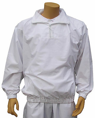 CATHEDRAL Showerproof 1/2 Zip Top Mens Teflon Coated Light Poly/Cotton Bowls