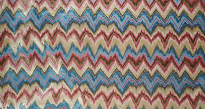 OLD WORLD WEAVERS Bourgogne Flame Stitch Linen Petit Point Pink France 4+yds New