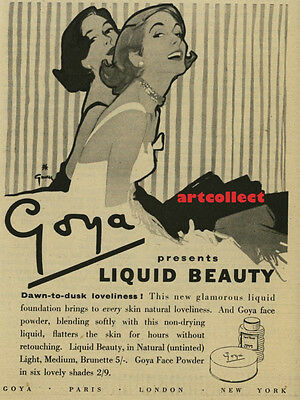 Original Vintage British Ad: Goya Liquid Beauty (1953)
