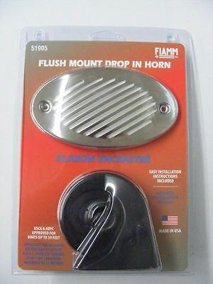FIAMM 519 Hidden Boat Horn Water Resistant Liner Stainless Steel Grill MD