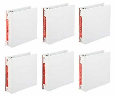 6 Office Impressions White 3 inch View Binders 3 Round Ring binder lot ct 6PKNEW