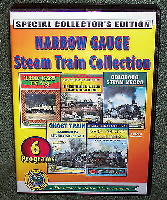 "20244 Train Video Dvd Box Set ""Narrow Gauge Steam Train Collection"""