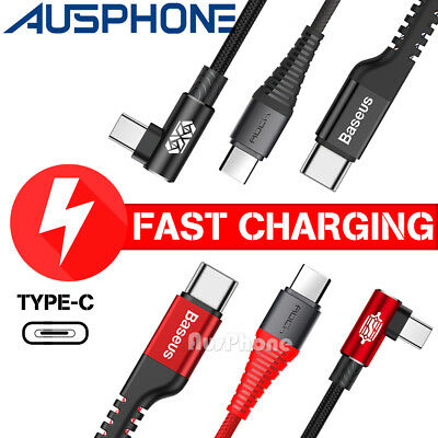 Strong Braided USB Type-C3.1 USB-C to Male Data Snyc Fast Charger Charging Cable