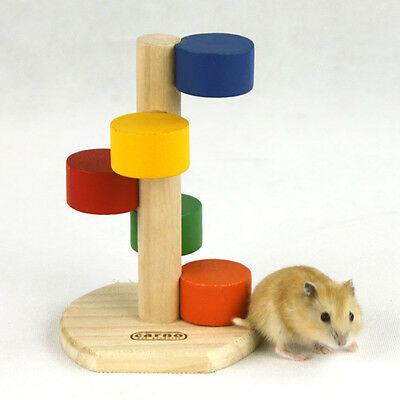 Wooden Colorful Scaling Climbing Step Ladder Cage Toys Fun for Hamster Mouse Rat