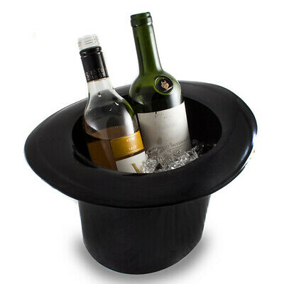 Top Hat Ice Bucket Champagne Wine Cooler Chiller Fits Two Bottles Cool Bar Gift