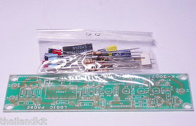 Logic Probe Basic Unassembled Kit 5-18V CMOS-TTL-PULSE no external supply