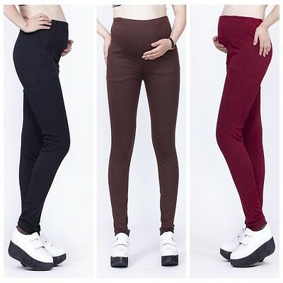 New Adjustable Women Pregnant Maternity Pants Over Bump Leggings Trousers Belly