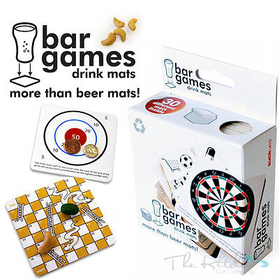 Drinking Game Bar Mats Contains 30 Different Party Games - Student Bar Fun