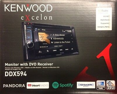 Kenwood Excelon DDX593 Monitor with DVD Receiver CD/AUX/USB/BT/SiriusXM/HD Radio