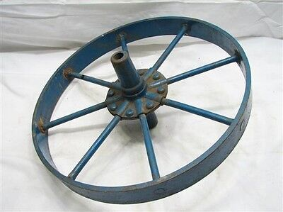 "Antique Iron Wheelbarrow Wheel 16"" 1-3/4"" wide Country Decor Farm Cart Tool Agri"