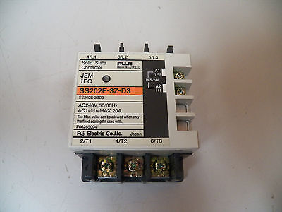 Fuji Electric Solid State Contactor Ss202E-3Z-D3 .20A .20 A Amp 60Hz 240V