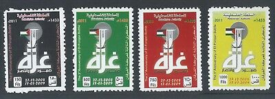 Palestine 2011 El-Forqan Battle 3Rd Anniversary Set Of 4 Mint Stamps