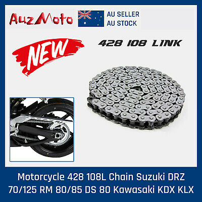 Motorcycle Drive Chain KMC 428 108 Links Atomik Thumpstar DHZ Pitpro w' Cutter