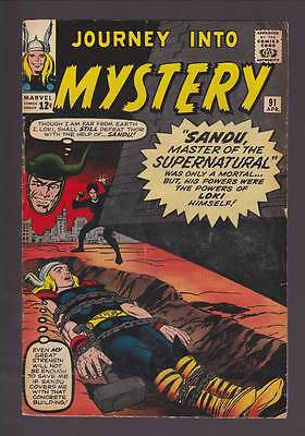 Journey into Mystery # 91  Master of the Supernatural !  grade 4.0 scarce book !