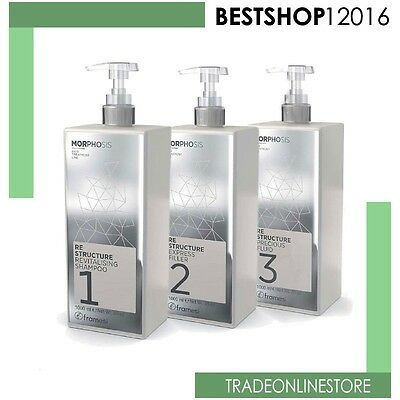 Framesi Morphosis Re Structure Kit 1000 ml  Trattamento Shampoo + Filler + Fluid