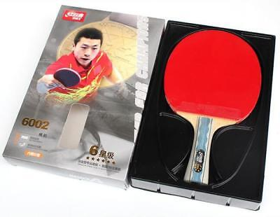 NEW Table Tennis Rackets DHS 6002 Shake-hands Grip 6 Star Paddle Bat Long Handle