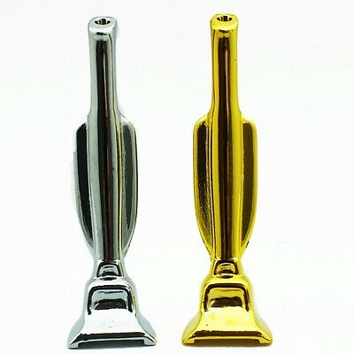 Hoover Snuffer Tool Brushed Metal Vacuum Snorter Novelty Gift - Gold & Silver