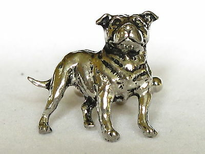 Staffordshire Bull Terrier Dog Fine Pewter Cufflinks Gift Mens Jewellery Boxed