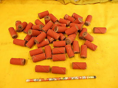 50 NEW ABRASIVE CARTRIDGE ROLLS 3M 3/4 x 1 1/2 x 1/8
