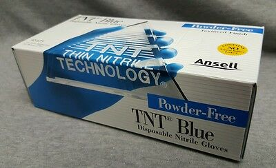 ANSELL TNT Blue 92-675 Disposable Nitrile Gloves Large 100 Gloves