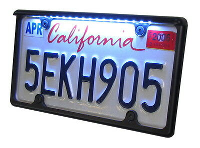 Car LED License Plate Frame Black