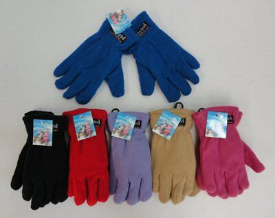 24 Pairs Childrens Fleece Gloves Kids Solid Color Thermal Insulate Winter Gloves