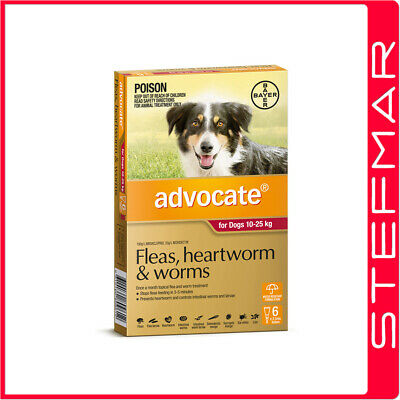 Advocate for Dogs 10-25Kg Large Red 6Pack