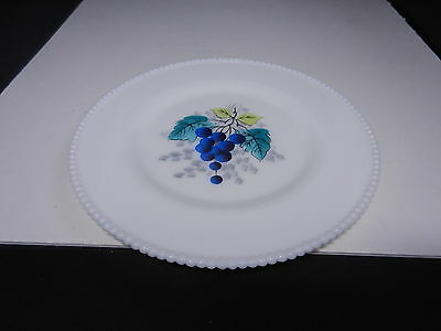 "Westmoreland Beaded Edge Dinner Plate Blueberries 10 1/2"" D ca 1953-1985"