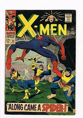 X-Men # 35  Along Came a Spider !  grade 3.5  scarce hot book !!